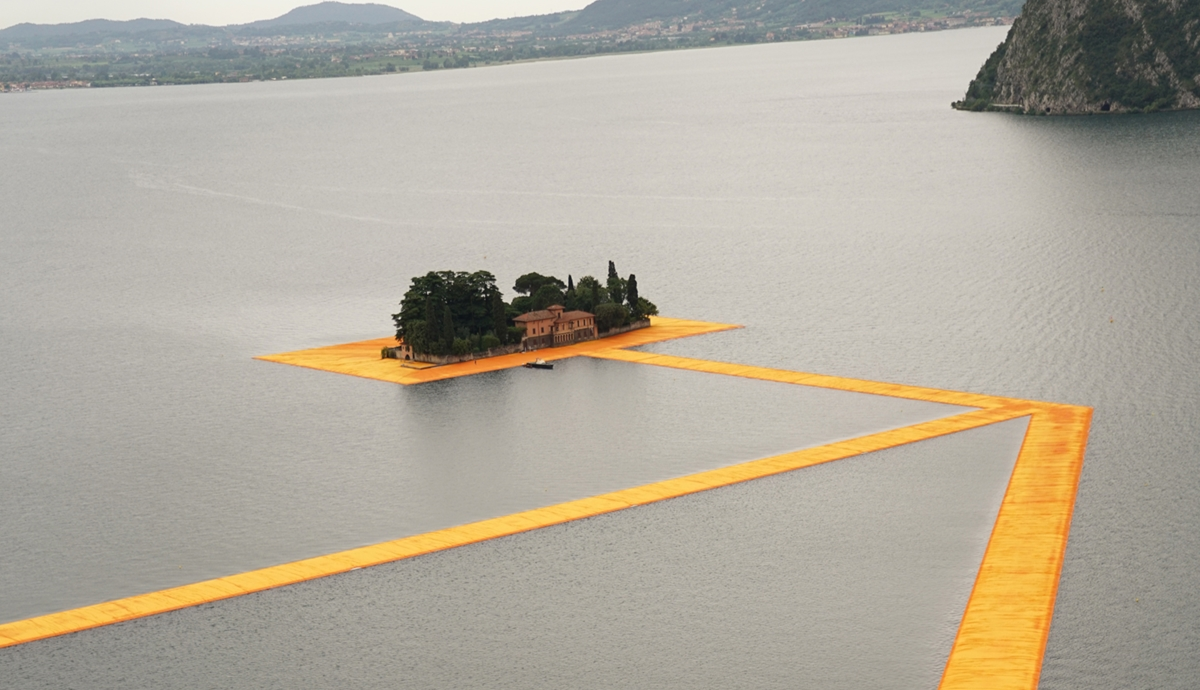 MONTISOLA (BS): THE FLOATING PIERS - CHRISTO'S BRIDGE from June 18th until July 3rd, 2016